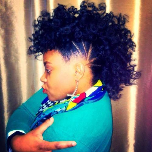 mohawk curl